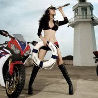 Motorcycle and Girls Puzzle